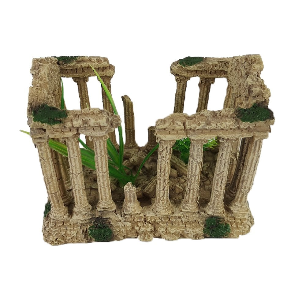 Dlp Aquarium Roman Column Greek Ruins Fish Tank Ornament Aquarium Supplies From Discount Leisure Products Uk
