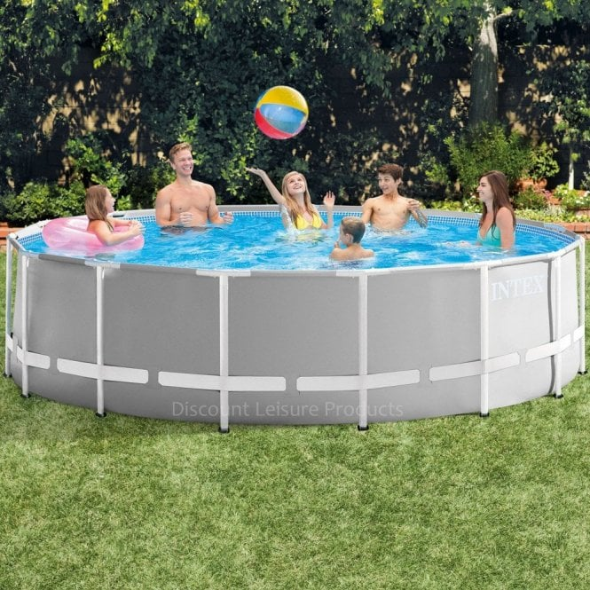Intex Prism Frame Above Ground Swimming Pool 15 feet x 48\