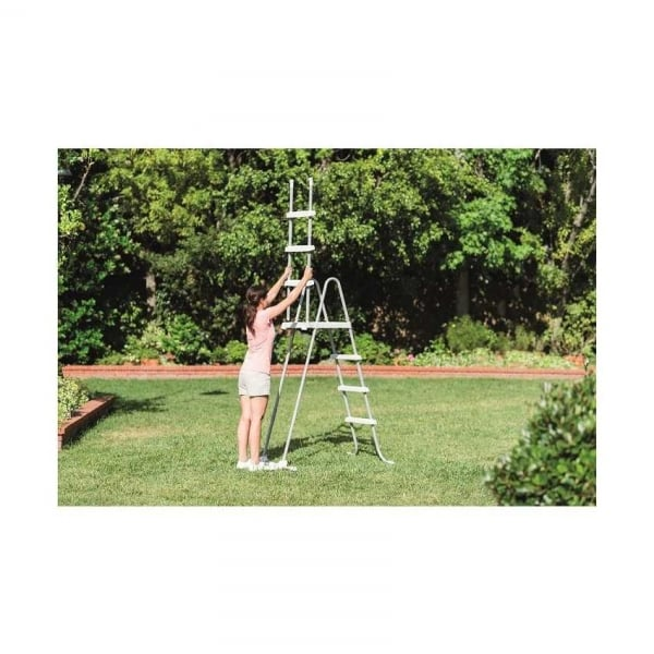 Swimming pool ladder with removable steps for 52 wall height - Removable swimming pool handrails ...