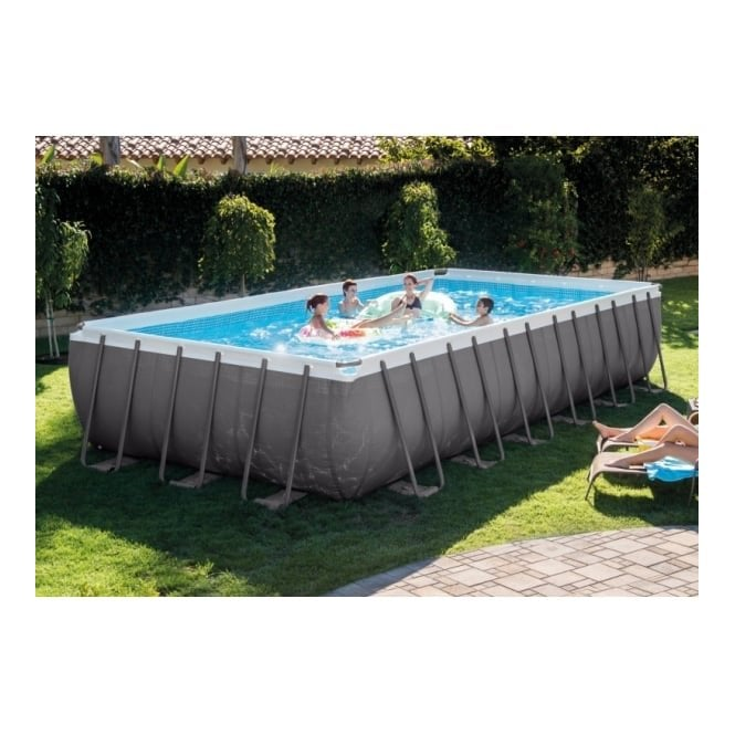 Ultra Frame Rectangular Above Ground Swimming Pool 24ft x 12ft x 52\