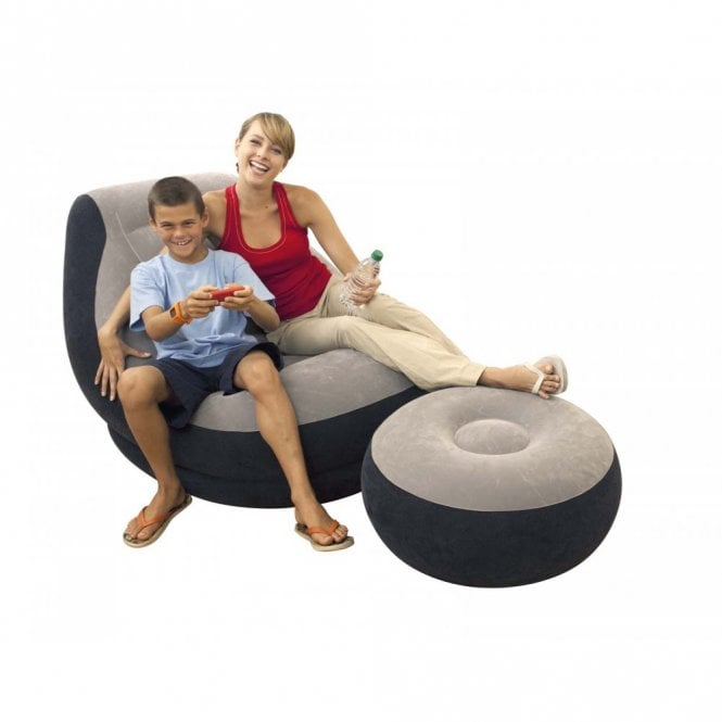 Strange Ultra Lounge Inflatable Chair With Foot Rest Alphanode Cool Chair Designs And Ideas Alphanodeonline