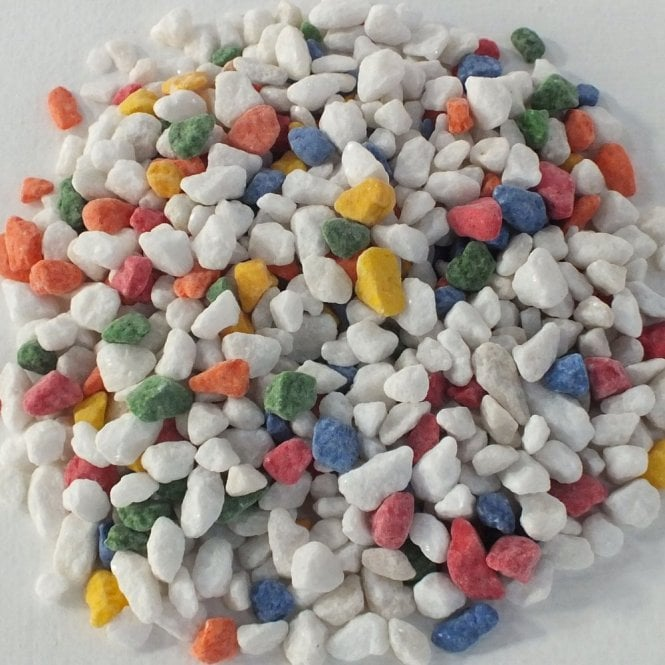 Aquarium Rainbow Coloured Gravel Substrate Stones